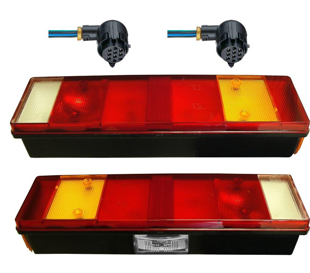 Kit Lanternas Traseira Iveco Stralis Tector com Conectores