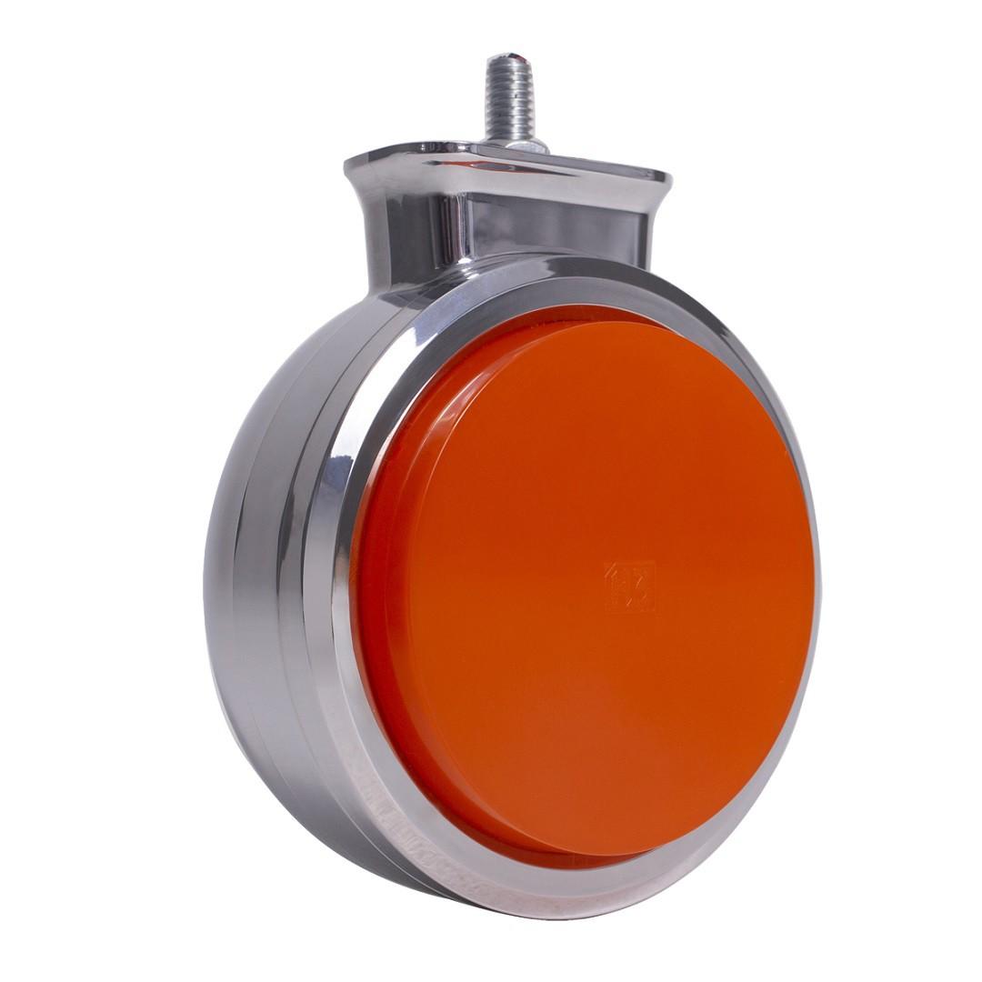 Lanterna Bojuda Foguinho Maria LED Cromada Bivolt Amarela
