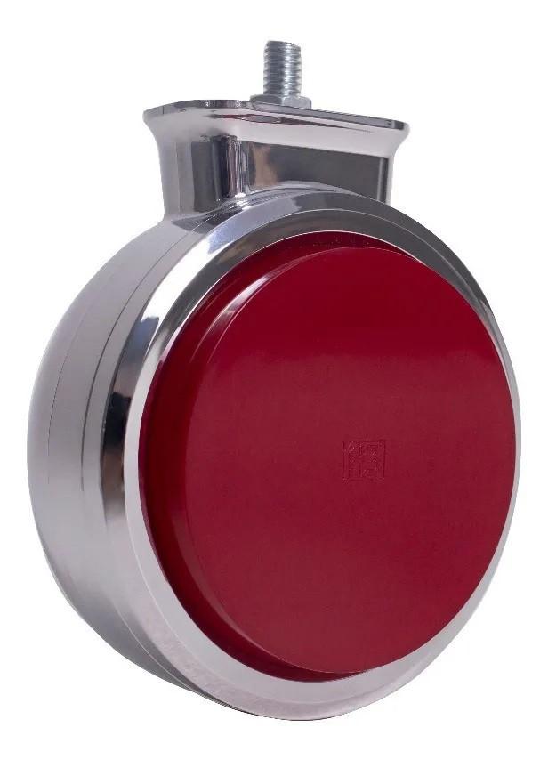 Lanterna Bojuda Foguinho Maria LED Cromada Bivolt Vermelha