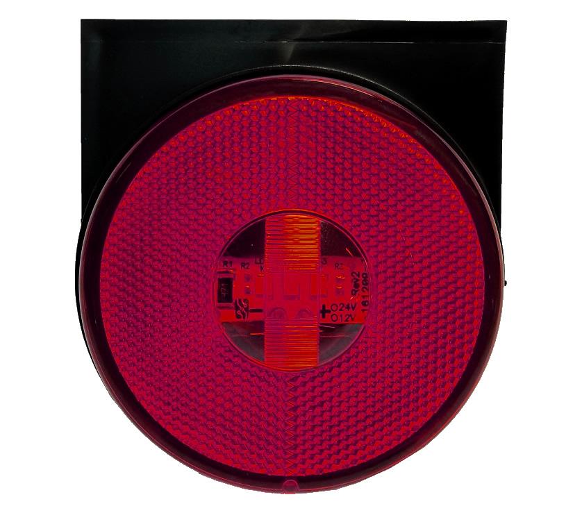 Lanterna Lateral LED Caminhão Carreta Com Suporte Vermelha G