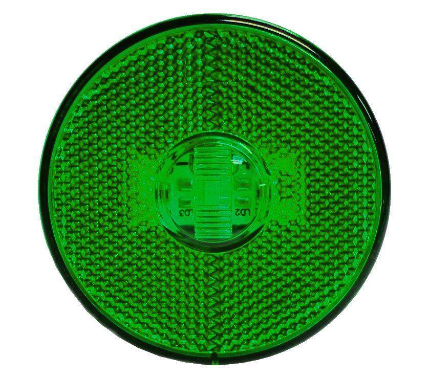 Lanterna Lateral LED Caminhão Carreta S/Suporte Verde G