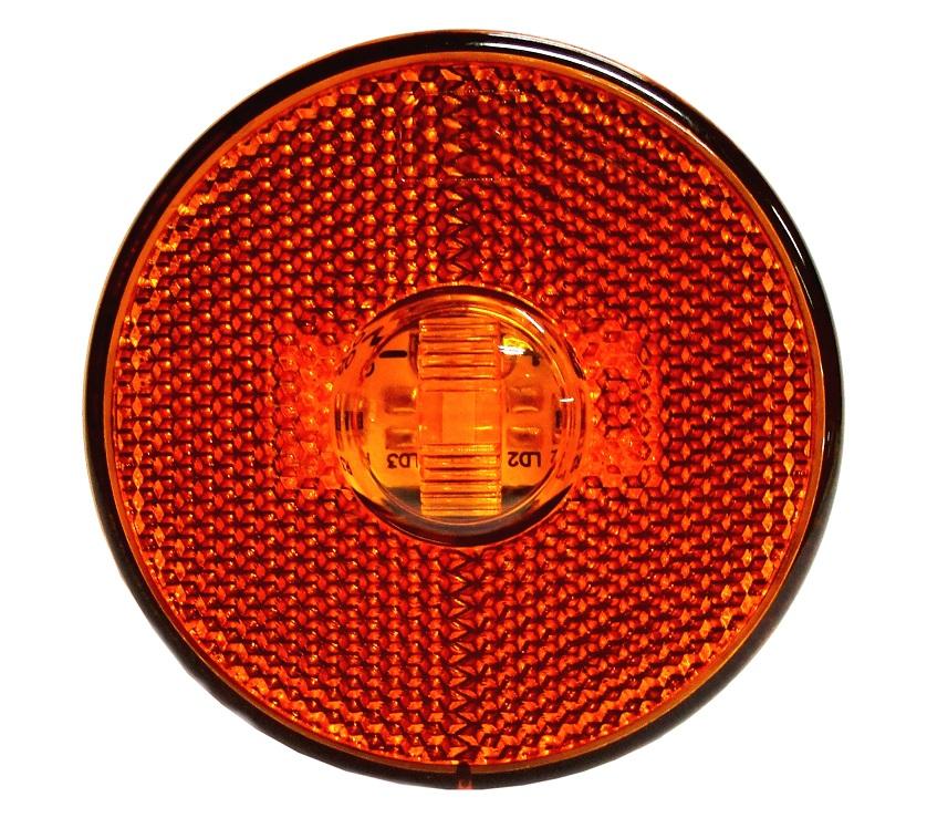 Lanterna Lateral Led Caminhão Carreta Sem Suporte Amarela P