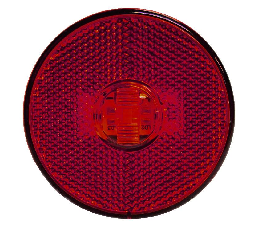 Lanterna Lateral LED Caminhão Carreta Sem Suporte Vermelha G