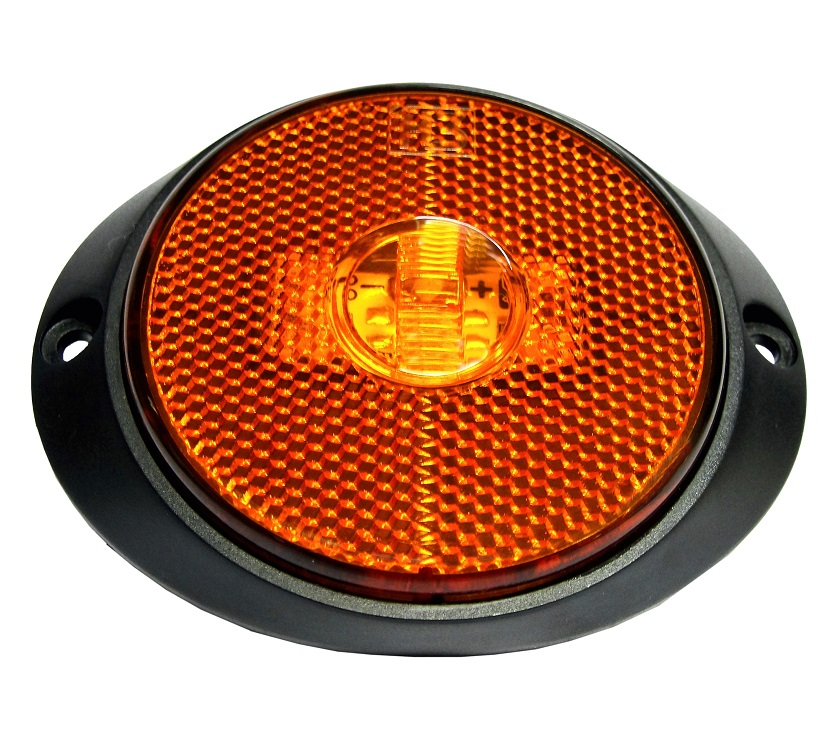 Lanterna Lateral Led Carreta Suporte Frontal Amarela