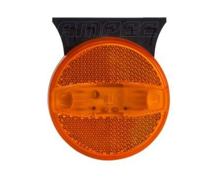 Lanterna Lateral Librelato / Metalesp Amarela Original LED 70mm Com Suporte