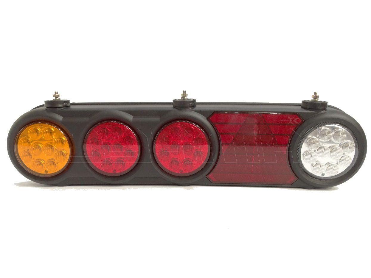 Lanterna Traseira Completa Trailer Bau Cegonha Carreta 24V LED Braslux Esquerda