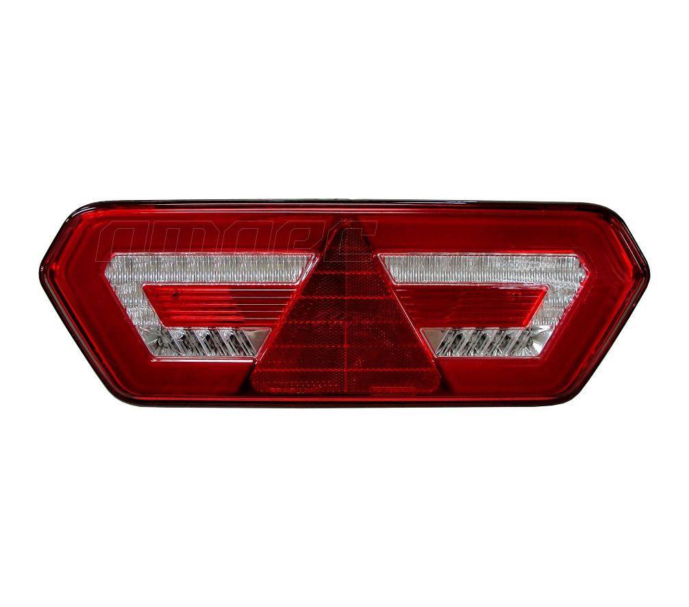 Lanterna Traseira Implemento Guerra LED 24V LD Diamond 3 Braslux Original
