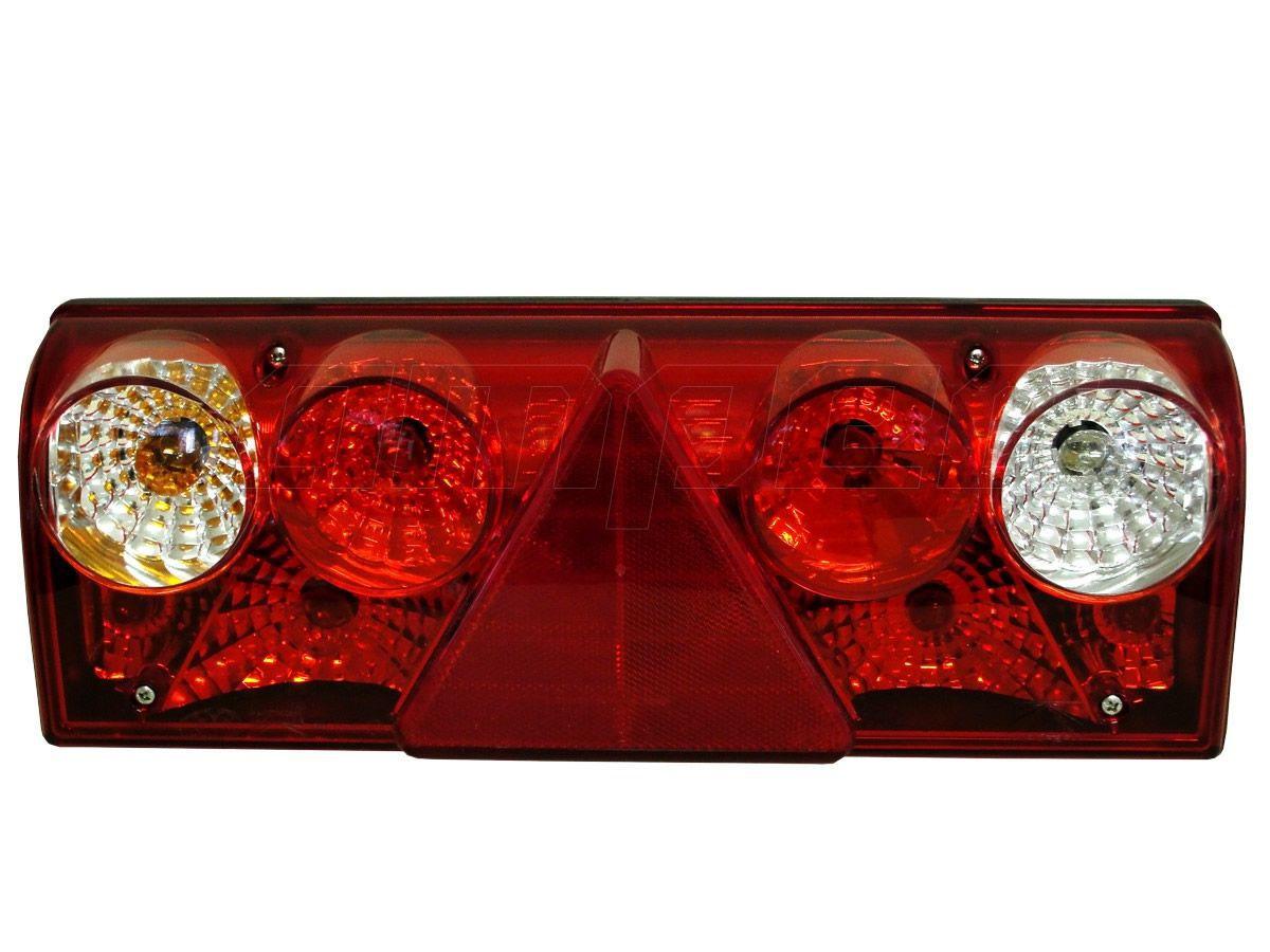 Lanterna Traseira Implemento Rodotec Rodotic Metalesp Europoint II Com Lampadas 24V Esquerdo