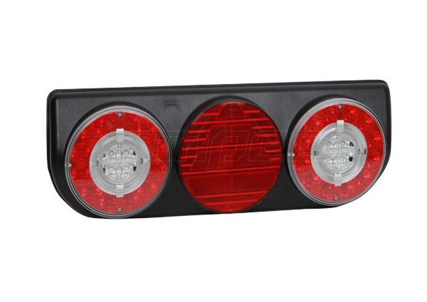Lanterna Traseira Implementos Facchini Braspoint 4 IV Direito LED Bivolt Guia de Luz