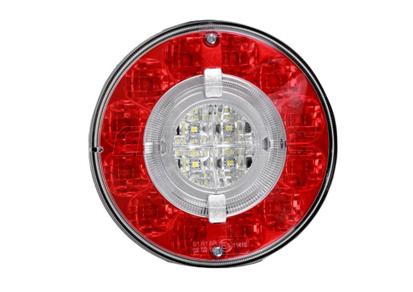 Lanterna Traseira Modulo Facchini Braspoint 6 VI Posicao Freio Re LED Bivolt Guia de Luz