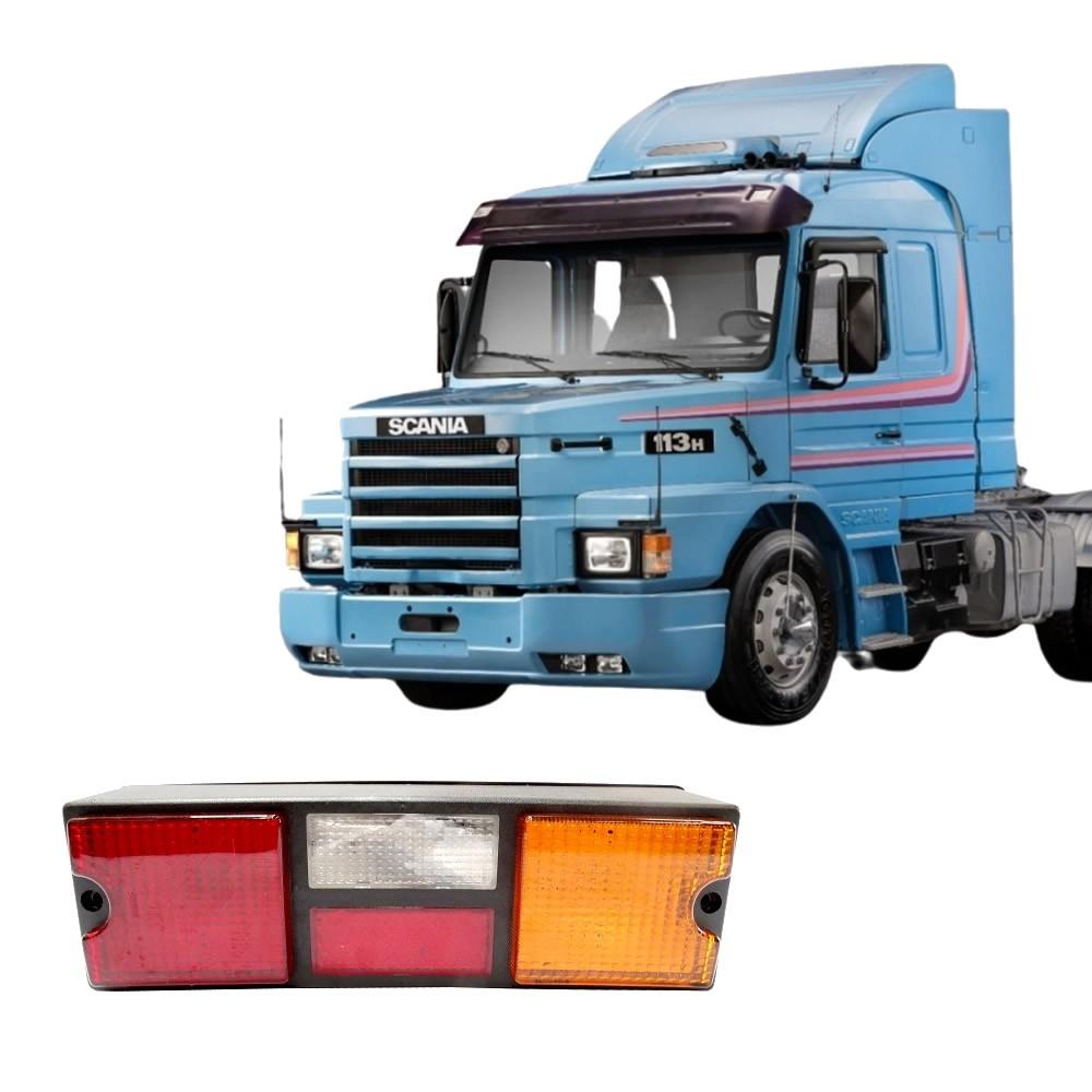 Lente Traseira Caminhao Scania T/R 112 113 142 143 Tricolor Sem Vigia LD