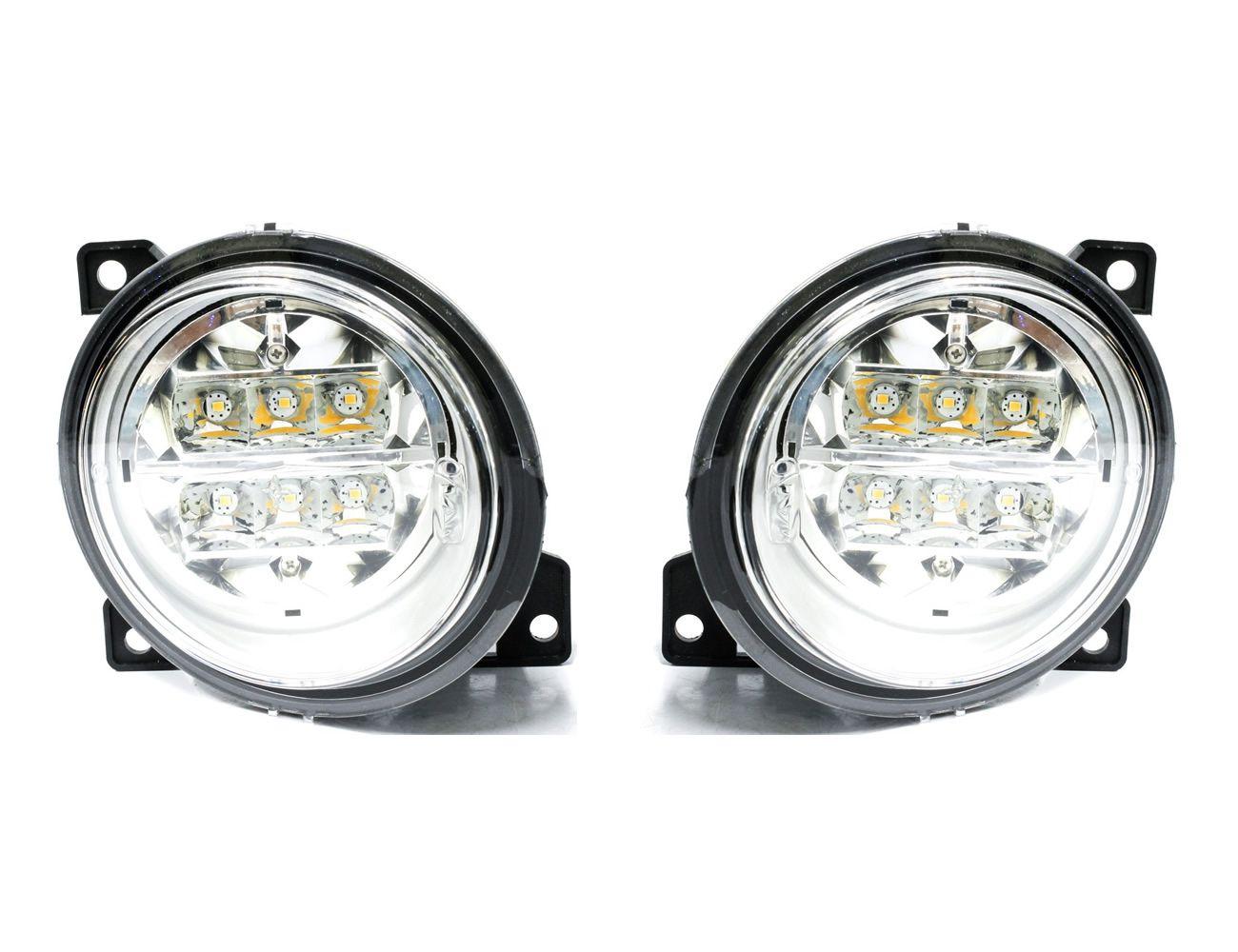 Par Farol Auxiliar Milha LED Scania Série 5 S5 PGR P G R