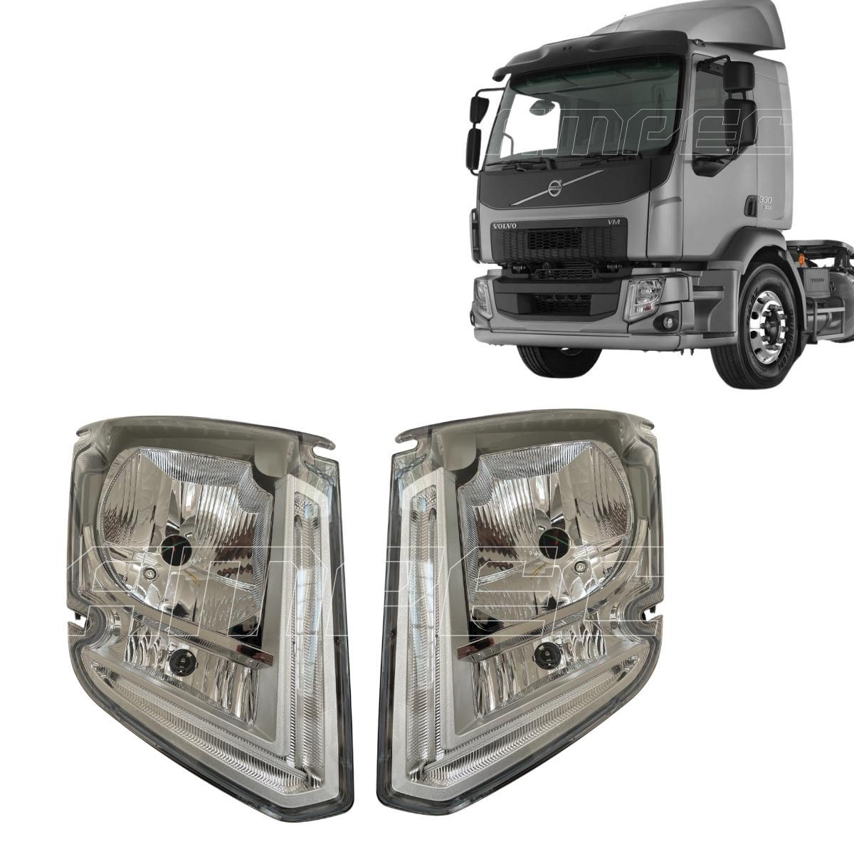 Par Farol Volvo VM 270 330 Após 2015 com LED