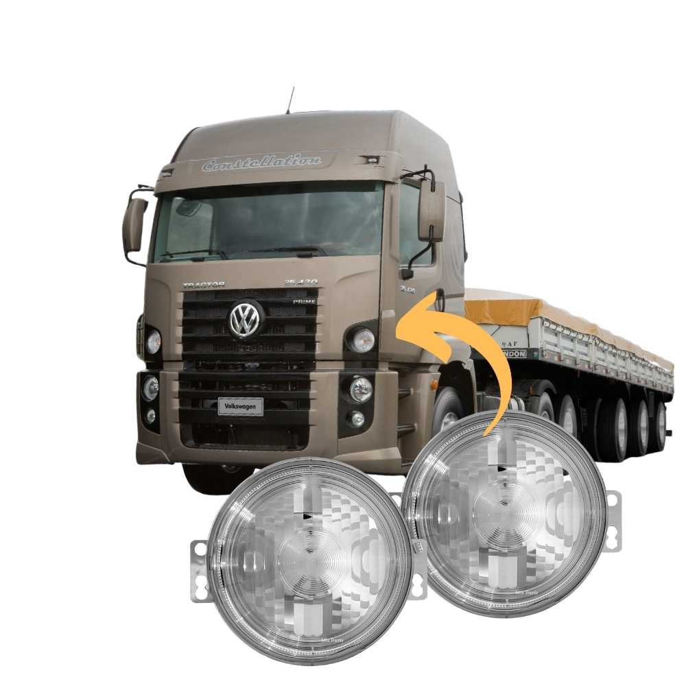 Par Lanterna Pisca Vw Constellation Volks Angel Eyes Led 24v