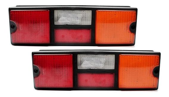Par Lanterna Traseira Caminhao Scania T/R 112 113 142 143 Tricolor