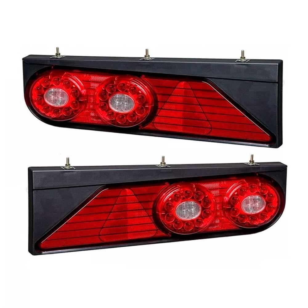 Par Lanterna Traseira Completa Carreta Randon LED Implementos 2013 em Diante