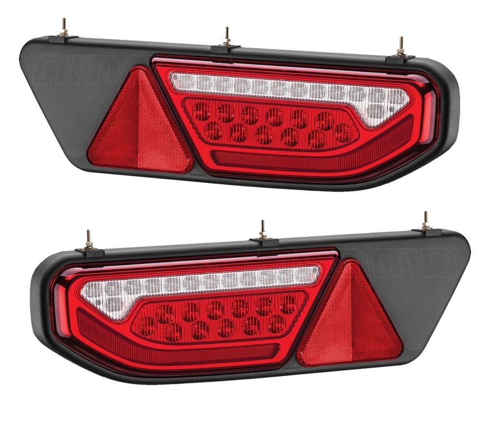 Par Lanterna Traseira Completa Duct Braslux Rodotecnica LED Bivolt