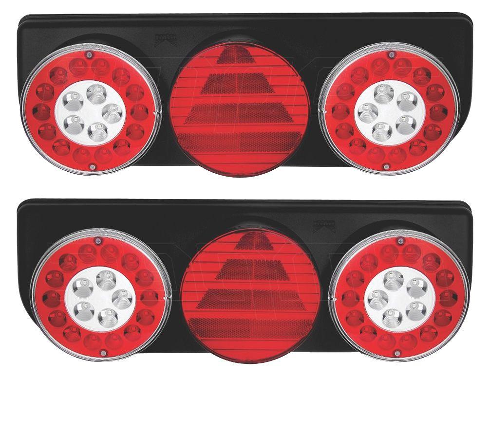 Par Lanterna Traseira Implemento Facchini Braspoint 4 IV LED 24V