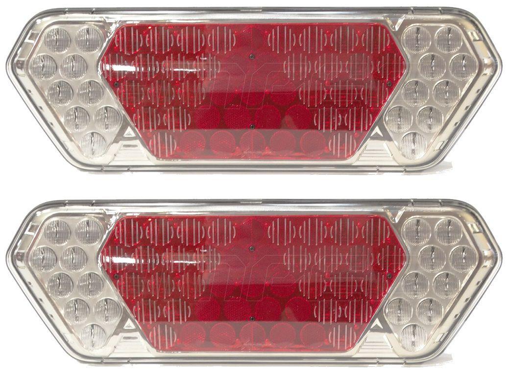 Par Lanterna Traseira Implemento Guerra LED 24V Diamond Braslux Original