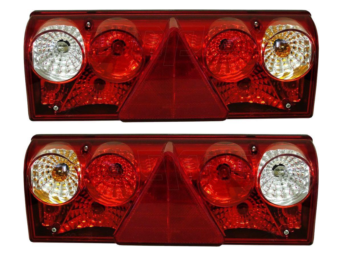 Par Lanterna Traseira Implemento Rodotec Rodotic Metalesp Europoint II Com Lampadas 24V
