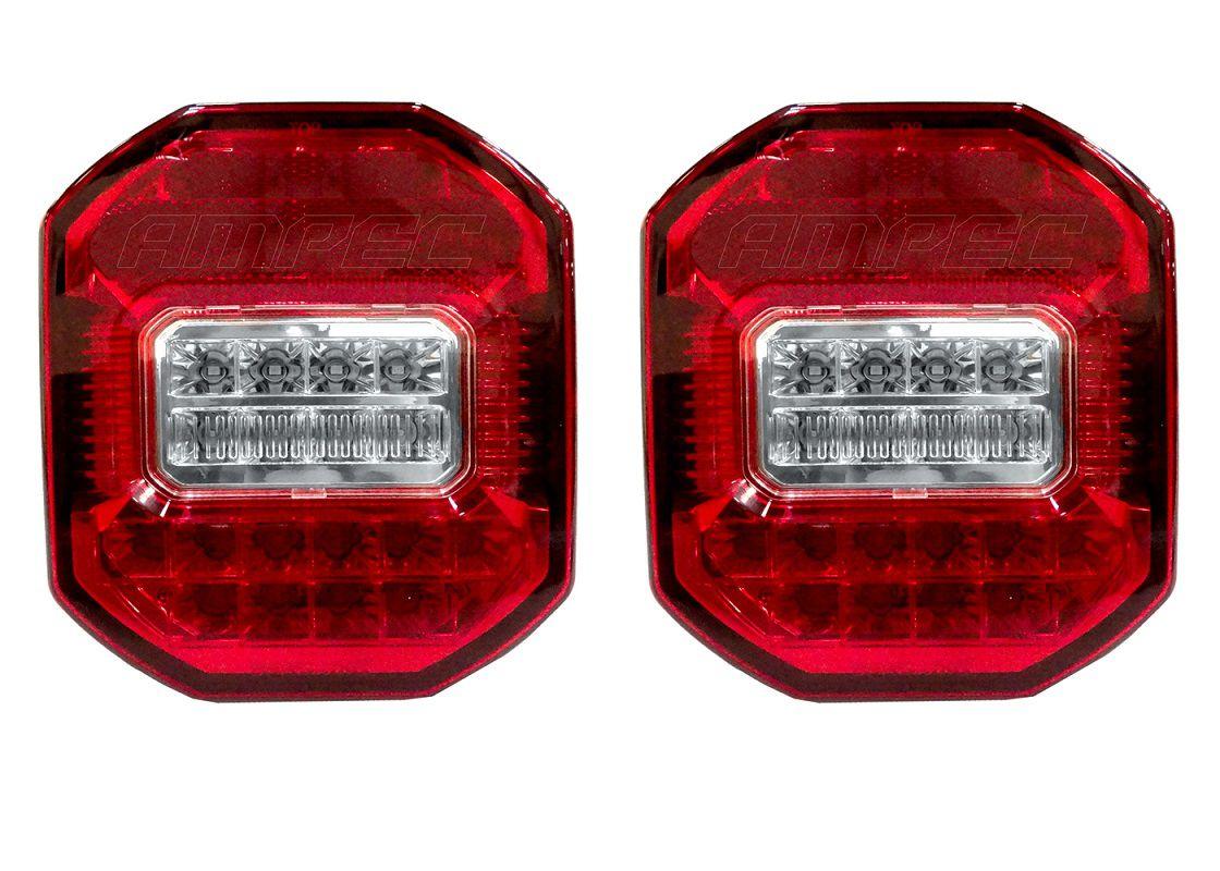 Par Lanterna Traseira Marmita Ford Cargo Vw Constellation Troller Jeep LED Bivolt