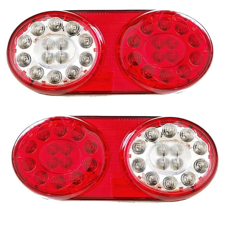 Par Lanterna Traseira Style Carreta Randon Até 2013 LED Implementos