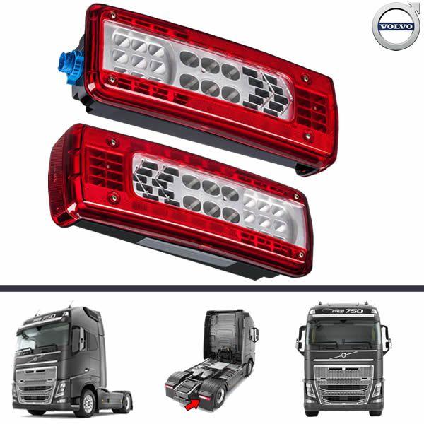 Par Lanterna Traseira Volvo FH16 FH VM FM 16 Após 2015