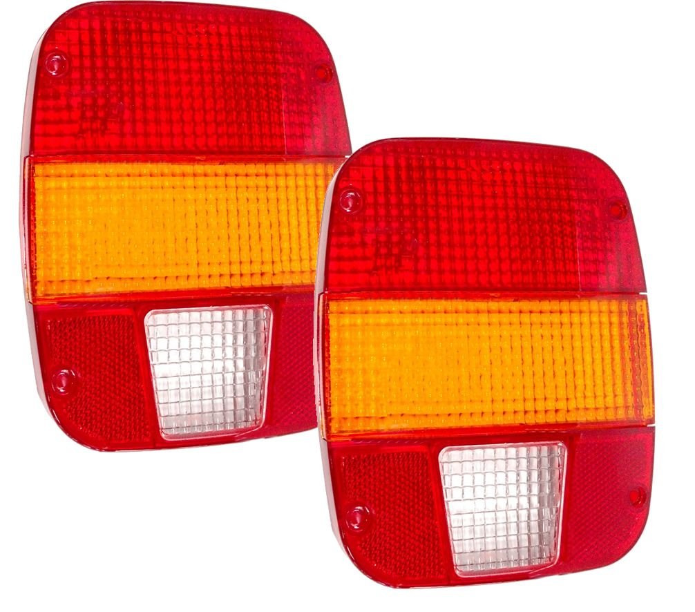 Par Lente para Lanterna Traseira Caminhão Ford VW Troller Marmita