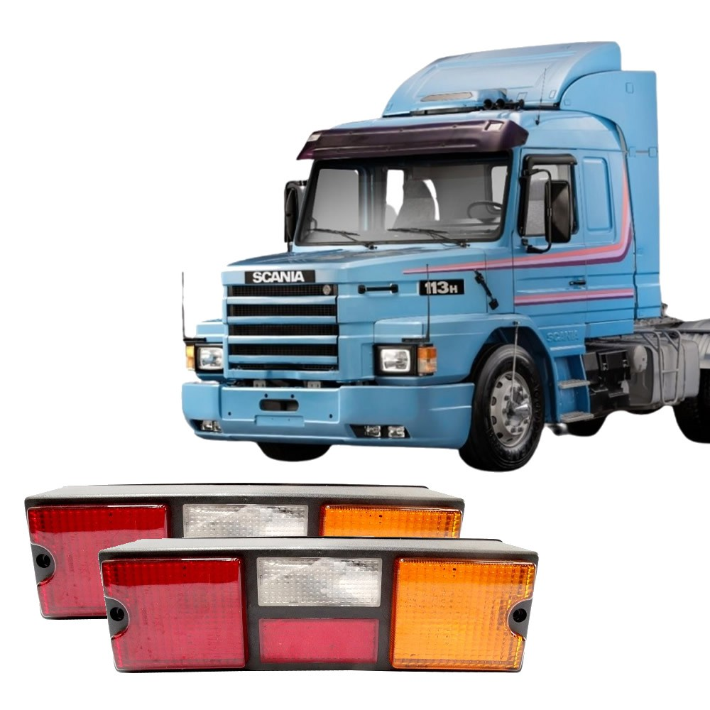Par Lente Traseira Caminhao Scania T/R 112 113 142 143 Tricolor