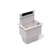 Caixa Tomada Openbox ABS  4BL 2EL/1BC/1BL-RJ45-KEY - Branco