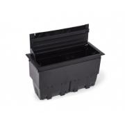 Caixa Tomada Openbox ABS  8BL 3EL/2BC/3BL-RJ45-KEY - Preto