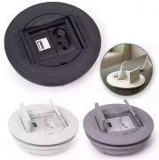 Caixa Universal Redonda em ABS para 2 blocos - Prata (sem blocos)