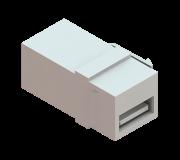 Conector USB Emenda Keystone - Preto