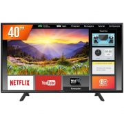 "SMART TV LED 40"" PANASONIC TC-40FS600B HD COM WI-Fi, 2 HDMI E CONVERSOR DIGITAL INTEGRADO"