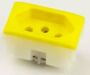 Tomada Elétrica QTMOV - 10A - Amarela - Bivolt