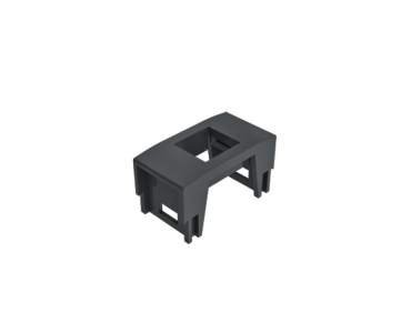 Bloco padrão Keystone - RJ45, USB Charger, HDMI - Preto