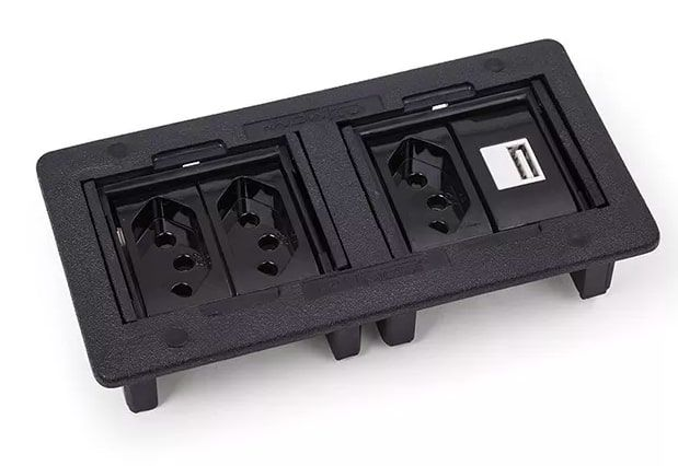 Caixa de Embutir para 4 Blocos - Preto (sem bloco)