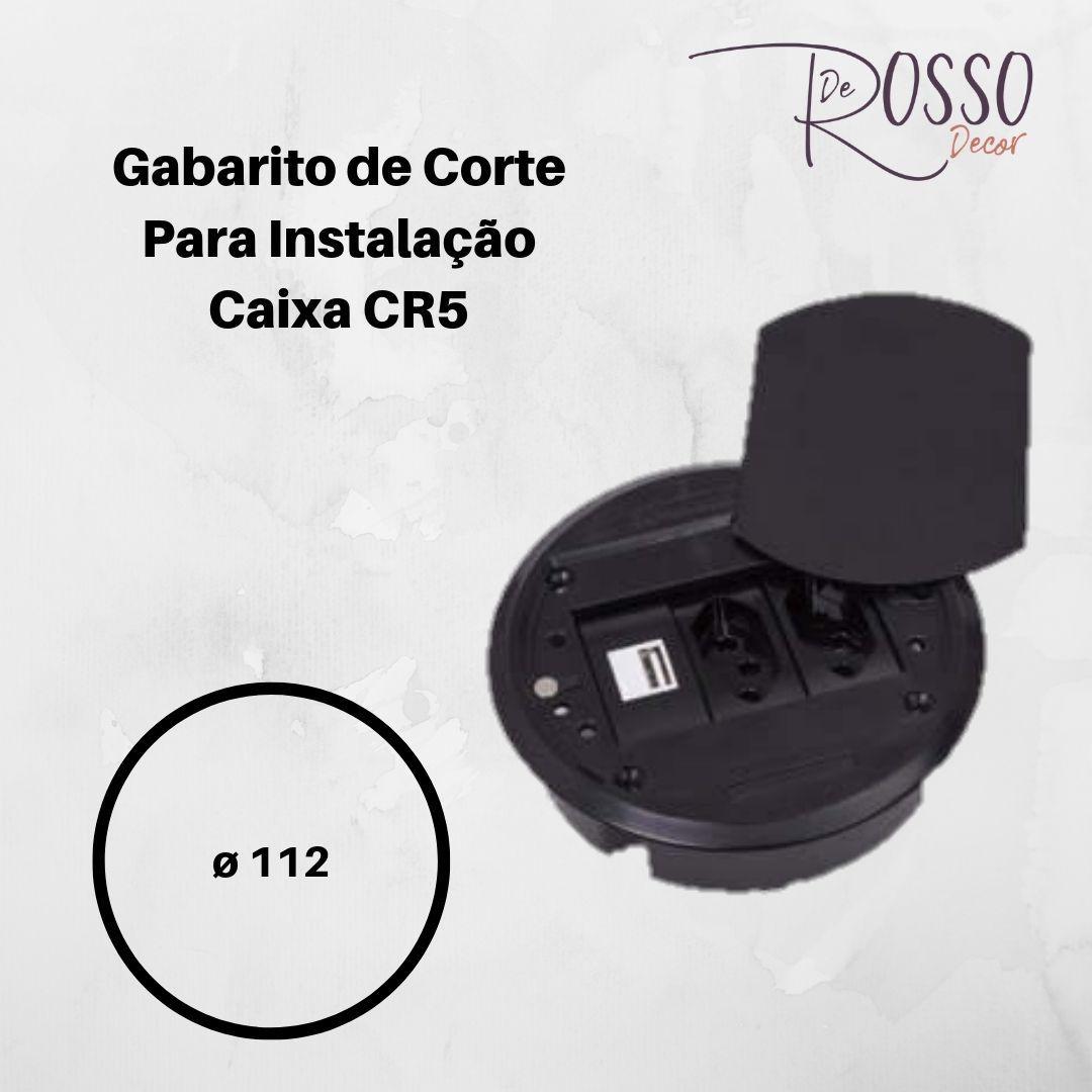 Caixa de Mesa CR5 - 3 blocos - Preto (Não acompanha blocos)
