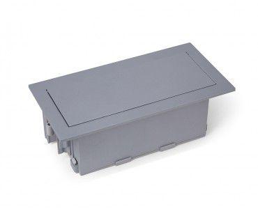 Caixa De Mesa Para 6 Blocos - Cinza (sem blocos)