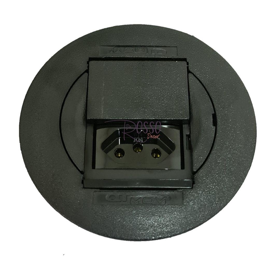 Caixa De Tomada Universal QTMOV + 2 Tomadas 10/20A - Preto