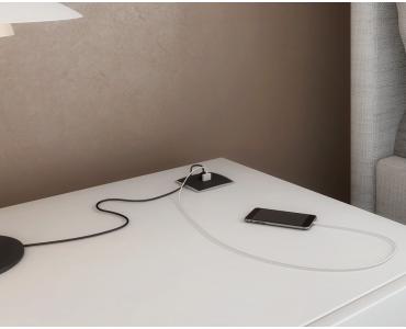 Caixa Multy com 2 USB 5V 2.1A - Preto
