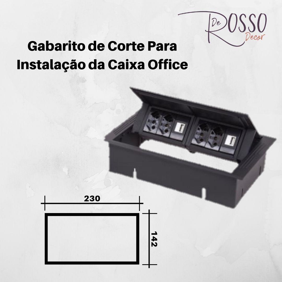 Caixa Tomada Office Standard P 6 Bl S/Compartimento - Preto