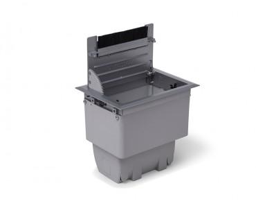 Caixa Tomada Openbox ABS  4BL 2EL/1BC/1BL-RJ45-KEY - Cinza
