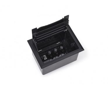 Caixa Tomada Openbox ABS  4BL 2EL/1BC/1BL-RJ45-KEY - Preto
