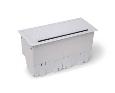 Caixa Tomada Openbox ABS  8BL 3EL/2BC/3BL-RJ45-KEY - Branco