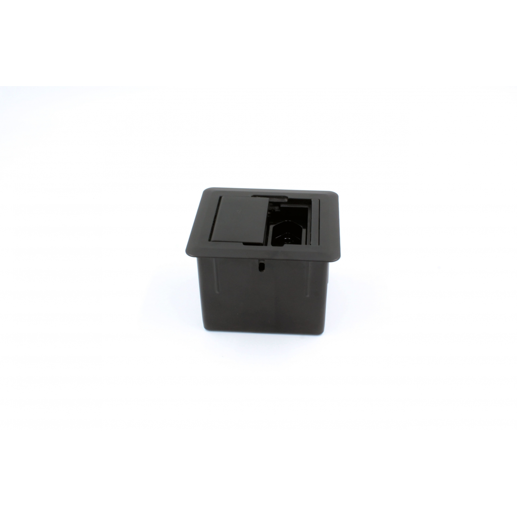 Caixa Univ. Quadrada 1 Tomada e 1 USB Charger c/ Fundo Preto