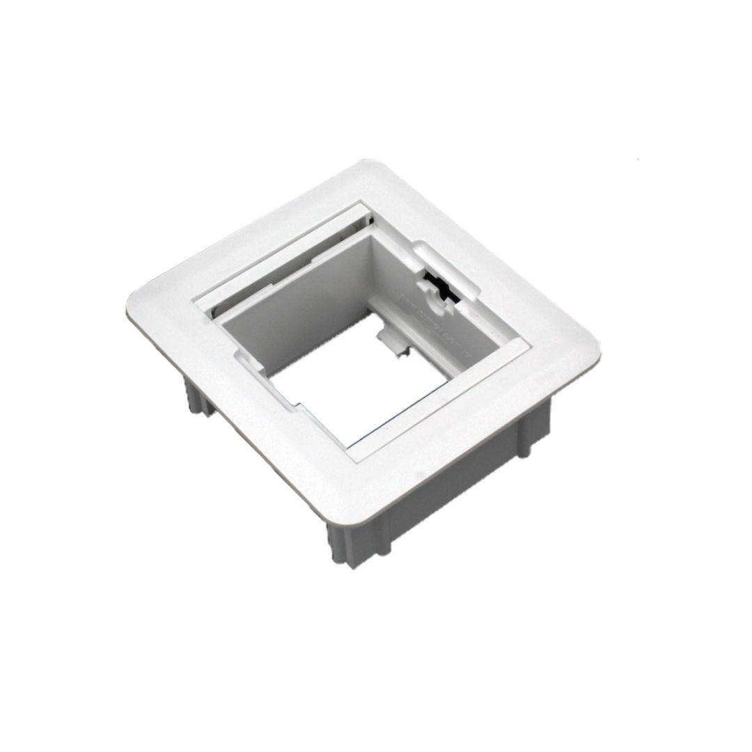 Caixa Universal Quadrada 2 blocos - Branca (Vazia)