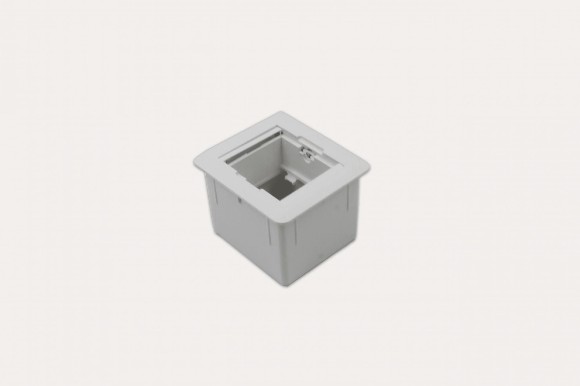 Caixa Universal Quadrada 2 blocos Com Fundo - Branca (Vazia)