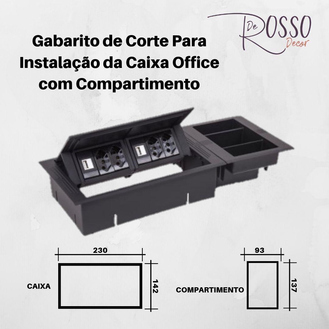 Compartimento para caixa Office - Branco