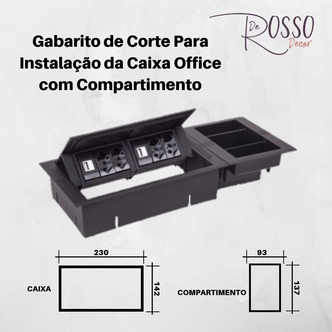 Compartimento para caixa Office - Cinza